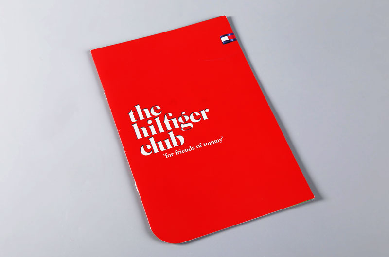 折页印刷-the hilfiger club